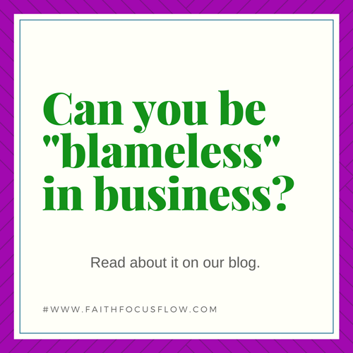 What does it mean to be blameless in business?