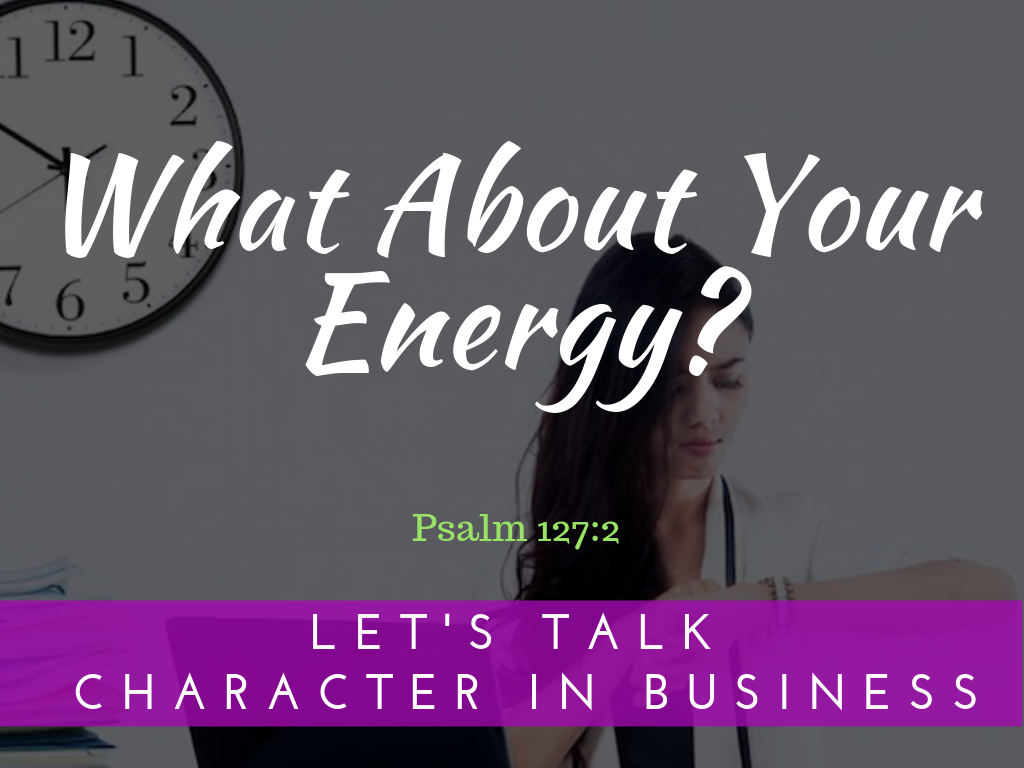 What About Your Energy?