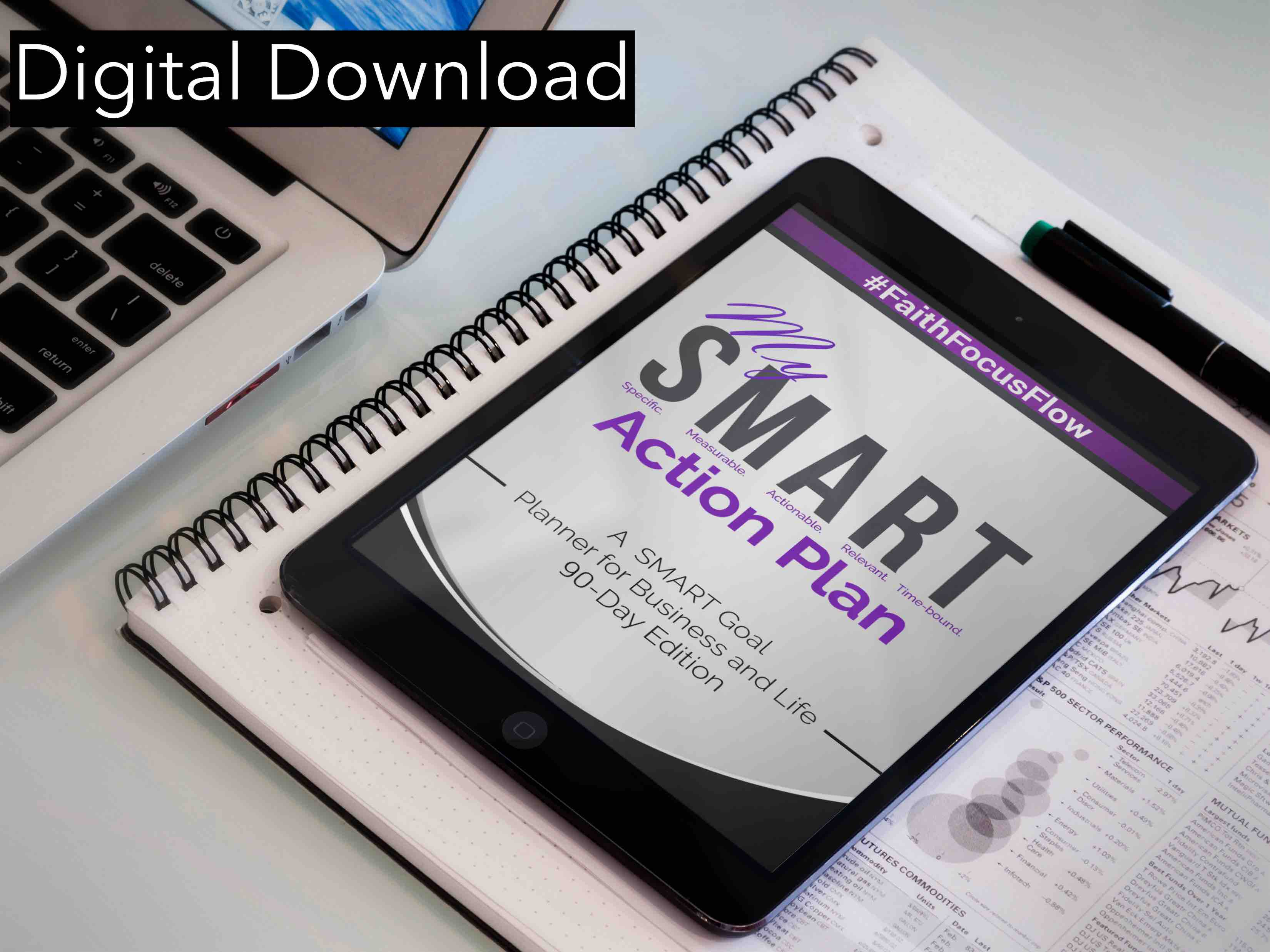 30 Day SMART Goal Action Planner - Digital Download